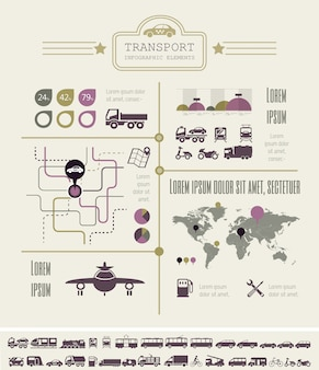 Transport infographik vorlage.
