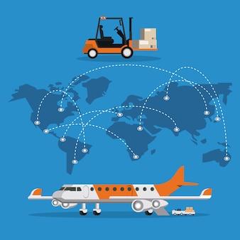 Transport-passagierflugzeugkarikatur