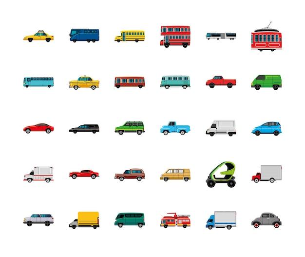 Transport verschiedener fahrzeuge