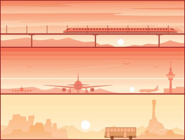 Transport von flugzeugen und straßenfahrzeugen