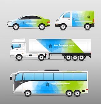 Transport Werbung Design