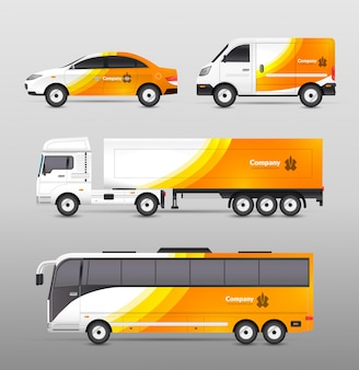 Transport Werbung Design