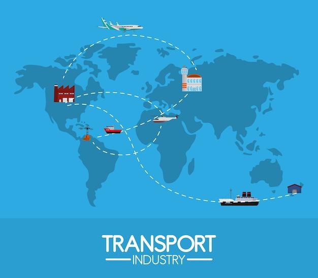 Transportindustrie auf der ganzen welt