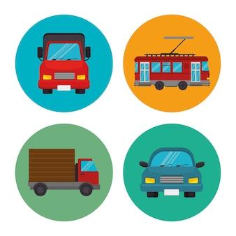 Transportmittel symbole