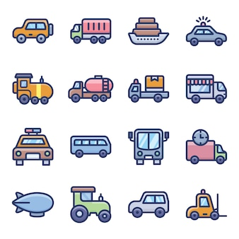 Transportmodi icons
