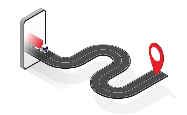 Transportverfolgung mit gps-grafik