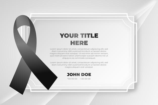 Trauer schwarz respektband