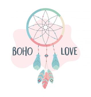 Traumfänger hängen boho-stil