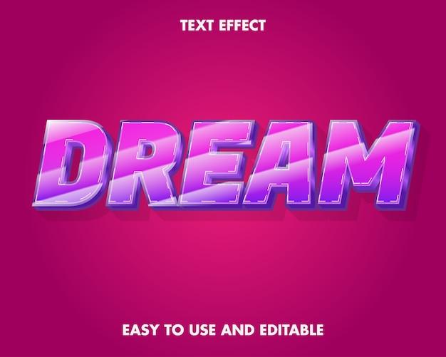 Traumtexteffekt. einfach zu bedienen und bearbeitbar. premium-vektor-illustration