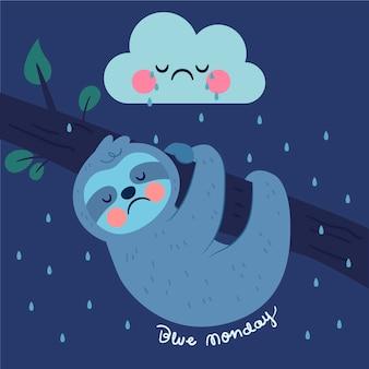 Trauriger charakter am blauen montag
