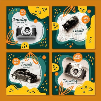 Travel instagram post sammlung