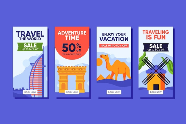 Travel sale instagram geschichten packen