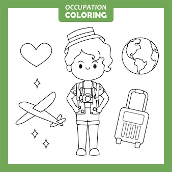 Traveller job beruf malvorlagen