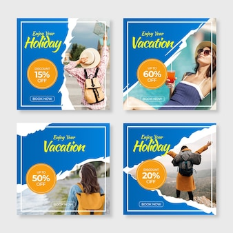 Travelling sales social media posts pack