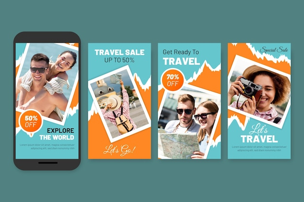 Travelling sales social media stories pack
