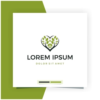 Tree love oder leave love logo design
