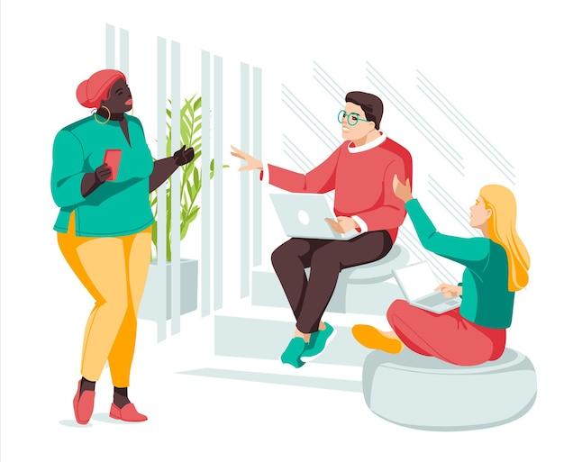 Treffen mit kreativen menschen