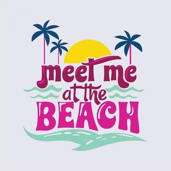 Treffen sie mich beim ocean phrase summer quote