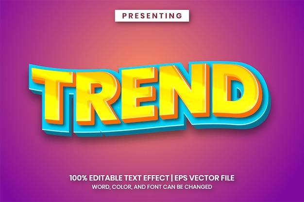 Trend-cartoon-titel-texteffekt
