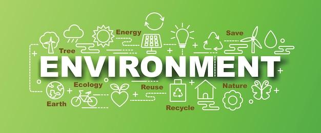 Trendige fahne des umweltvektors