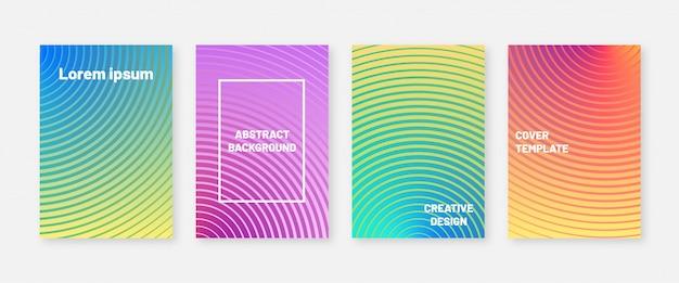 Trendige farben decken designvorlage ab. minimaler hintergrund mit modernem farbverlauf
