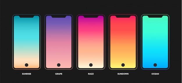 Trendige farbverlaufsmuster