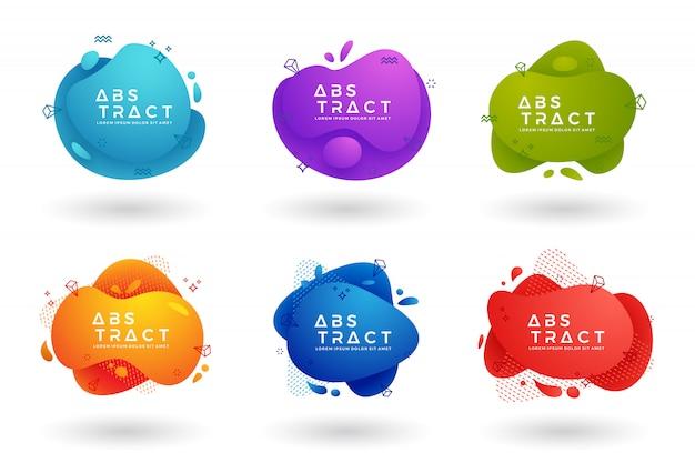 Trendige flüssige farbverlaufskollektion.