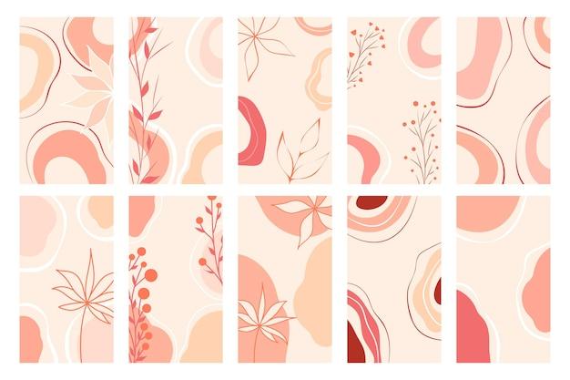 Trendige illustration für webdesign. vektor-app-vorlagensatz. eleganter abstrakter hintergrund. social-media-banner-vorlage. modernes, tolles design für jeden zweck.