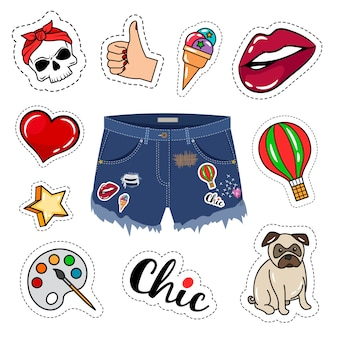 Trendige jeansshorts