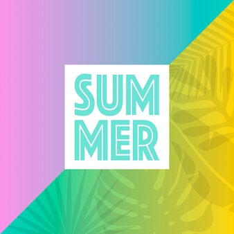 Trendige tropische sommerblätter