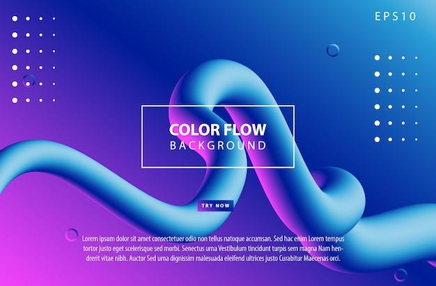Trendige verlaufsfarben mit abstrakten fließenden formen