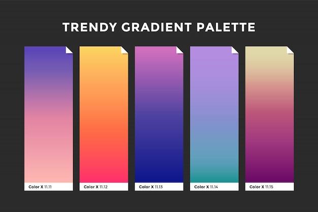 Trendige verlaufsfarben