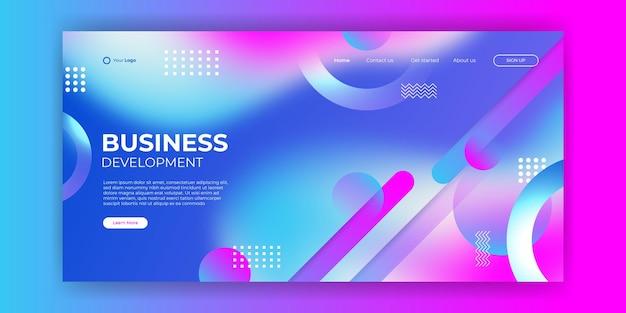 Trendiger abstrakter flüssiger hintergrund für ihr landingpage-design. minimaler hintergrund für website-designs