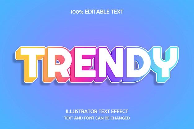 Trendiger, bearbeitbarer texteffekt im modernen schattenstil