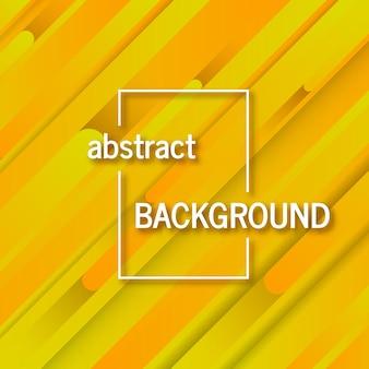 Trendiger geometrischer gelber hintergrund mit abstrakten linien. kartendesign. futuristisches dynamisches muster. vektor-illustration
