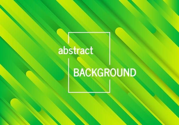 Trendiger geometrischer grüner hintergrund mit abstrakten linien. futuristisches dynamisches musterdesign. vektor-illustration