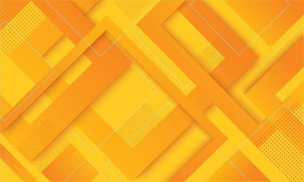 Trendiger hintergrund des modernen gelben quadratgradienten