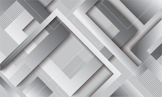 Trendiger hintergrund des modernen grauen quadratischen gradienten