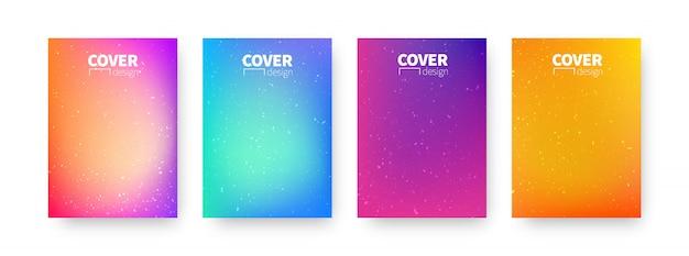 Trendiges cover-design. modernes vorlagendesign des hintergrunds zur verwendung von web und druck. bunte farbverläufe.