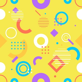 Trendiges nahtloses, geometrisches muster, vektorillustration mit geometrischen figuren. entwerfen sie hintergründe für einladungs-, broschüren- und werbevorlagen.