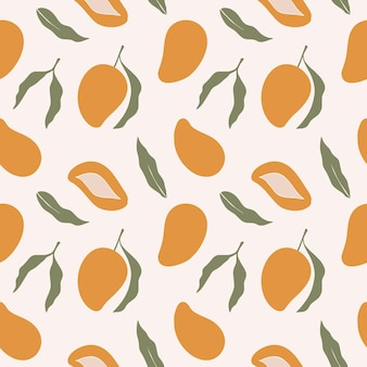 Trendiges nahtloses muster mit mango