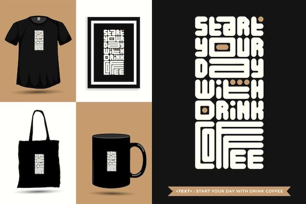 Trendiges typografie-zitat-motivations-t-shirt für den druck. typografische beschriftung vertikale designvorlage poster, tasse, einkaufstasche, kleidung und waren