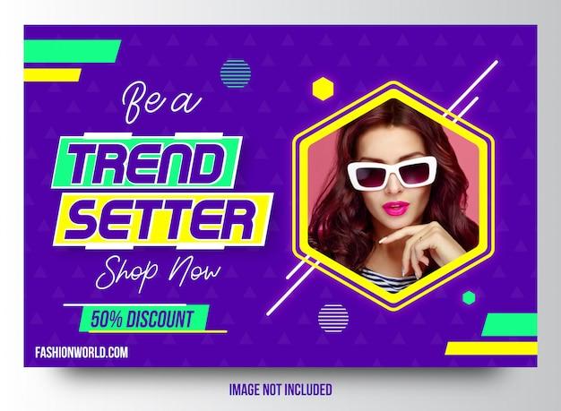 Trendsetter mode verkauf banner template-design