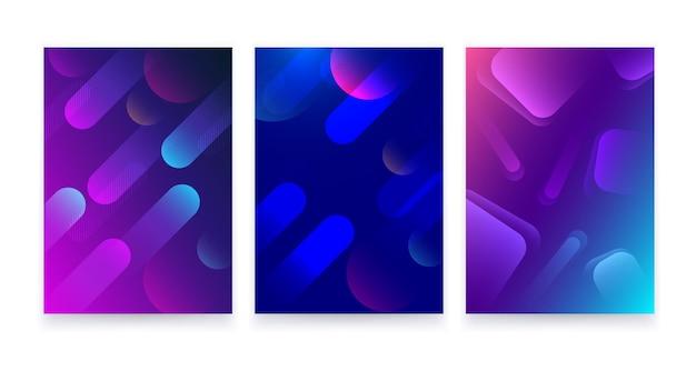 Trendy abstrakter fließender geometrischer hintergrund.