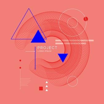 Trendy abstrakter geometrischer hintergrund