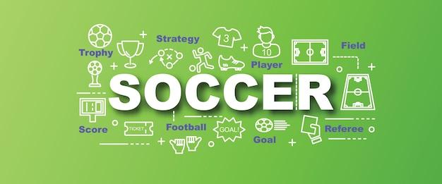 Trendy banner des fußballvektors