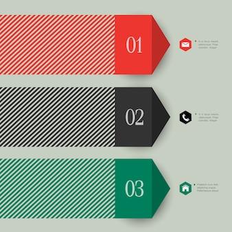 Trendy banner pfeil für infografiken