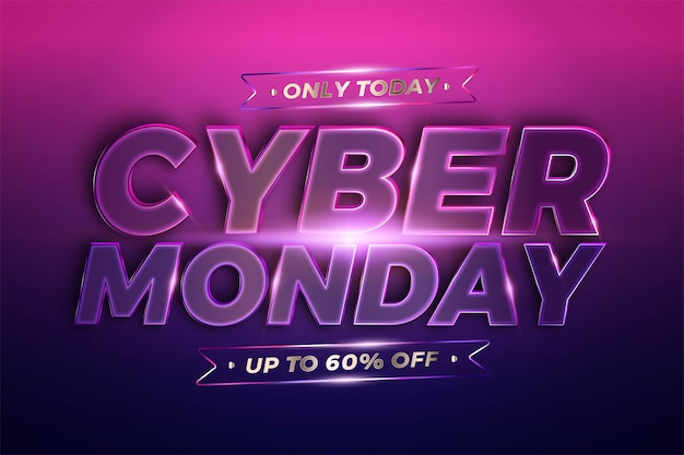 Trendy banner promotion, cyber montag.