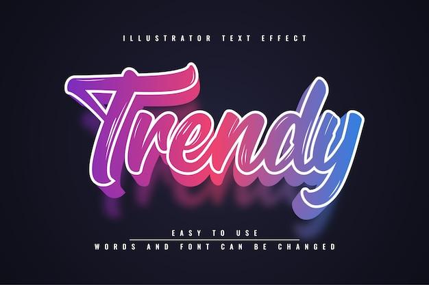 Trendy - bearbeitbarer texteffekt