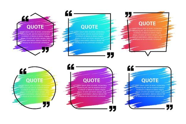 Trendy block zitieren moderne designelemente